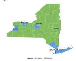 New York primary - visit NYT active link for each county's vote totals